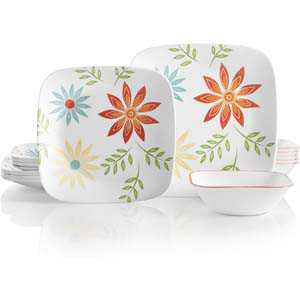 9. Corelle Service Happy Days Dinnerware Set