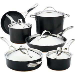 Anolon Nouvelle Copper Cookware Pots and Pans Set